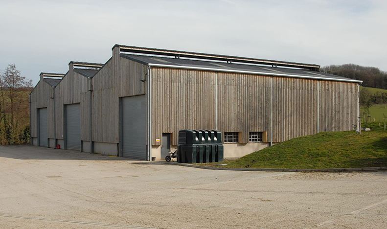 grain storage shed