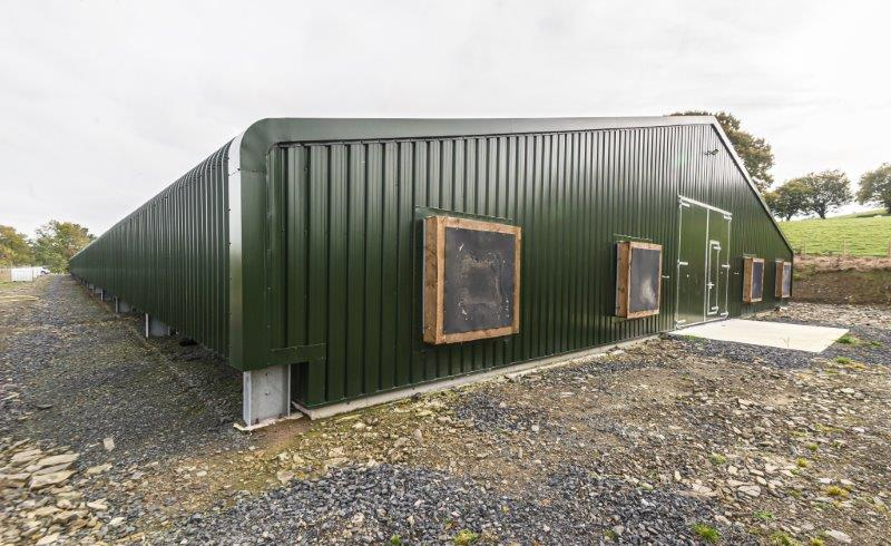 Powell & Co Construction Ltd Pullet Rearing Poultry Unit in Mid Wales